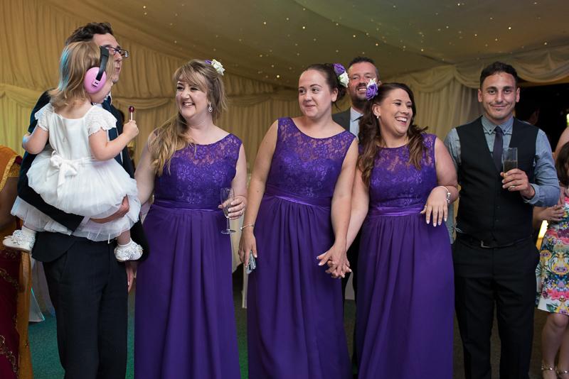 Bridesmaids on dancefloor at Noke Hotel wedding