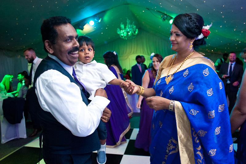 Guests dancing at Noke hotel wedding