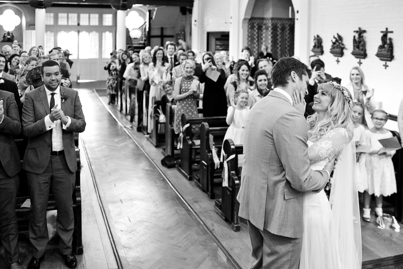 Wedding ceremony at Lady of LaSalette London Bridge