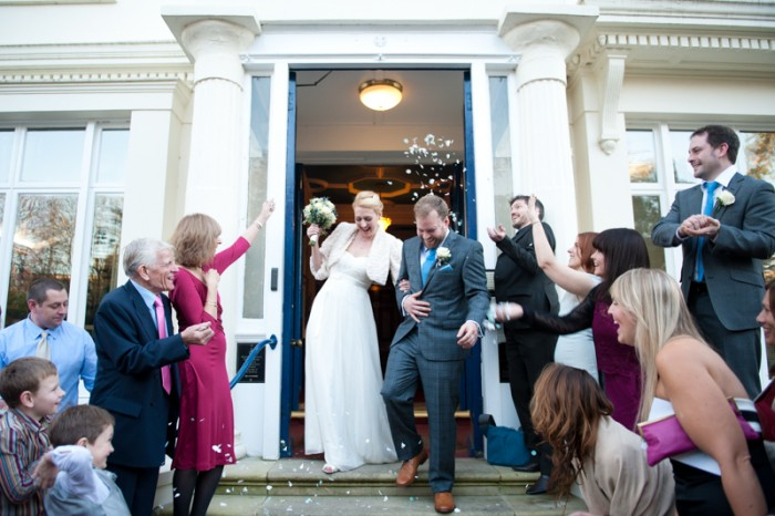 Confetti at Glenmore House wedding