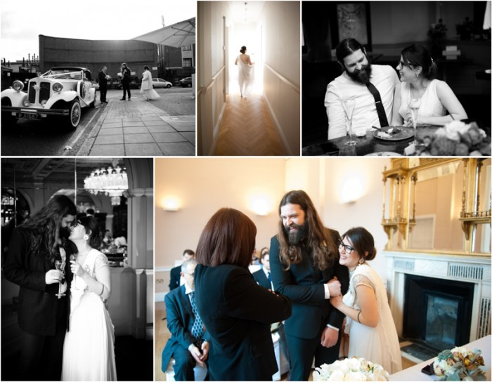 A selection of photographs from a wedding at Crocker's Folly in St Johns Wood