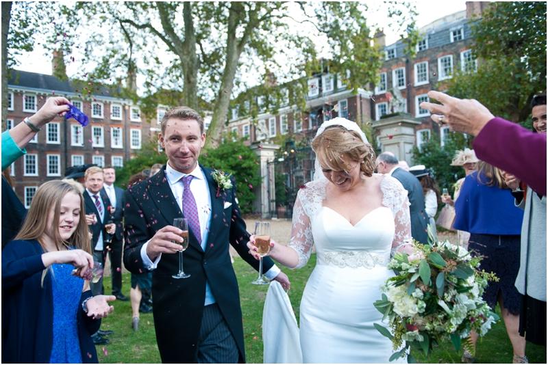 Confetti at Gray's Inn wedding, Confetti at Grays Inn wedding, Annelie Eddie Photography