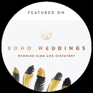 Featured on Boho Weddings - the Boho Luxe Wedding Blog