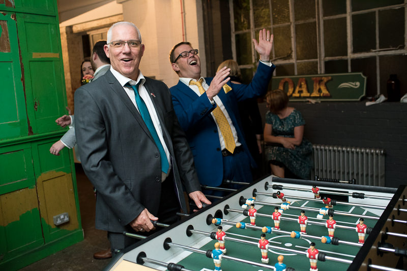 Table Football at One Friendly Place wedding