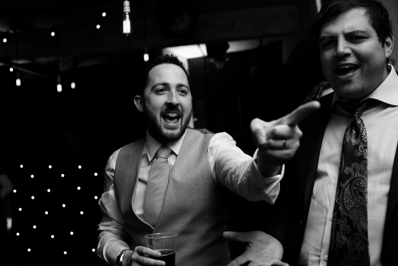 Groom dancing at One Friendly Place
