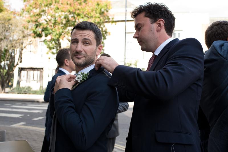 Groomsmen before Stoke Newington Town Hall wedding