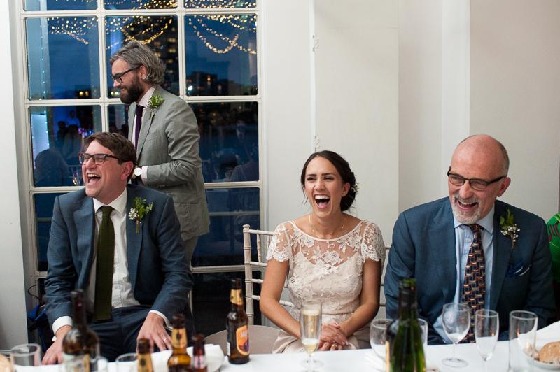 Speeches at West Reservoir Centre wedding