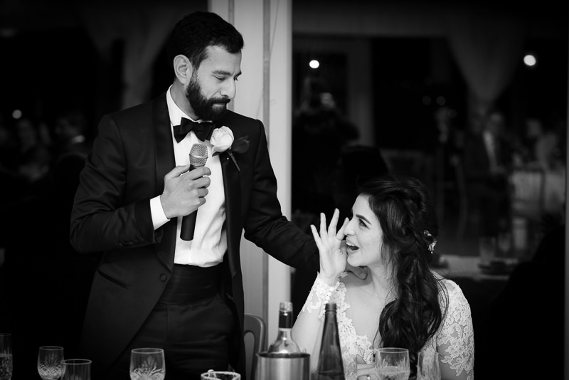 Speeches at Boreham House wedding