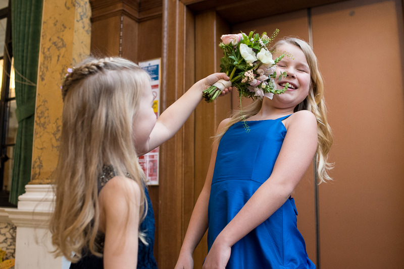 Flower girls at Camden Town Hall wedding