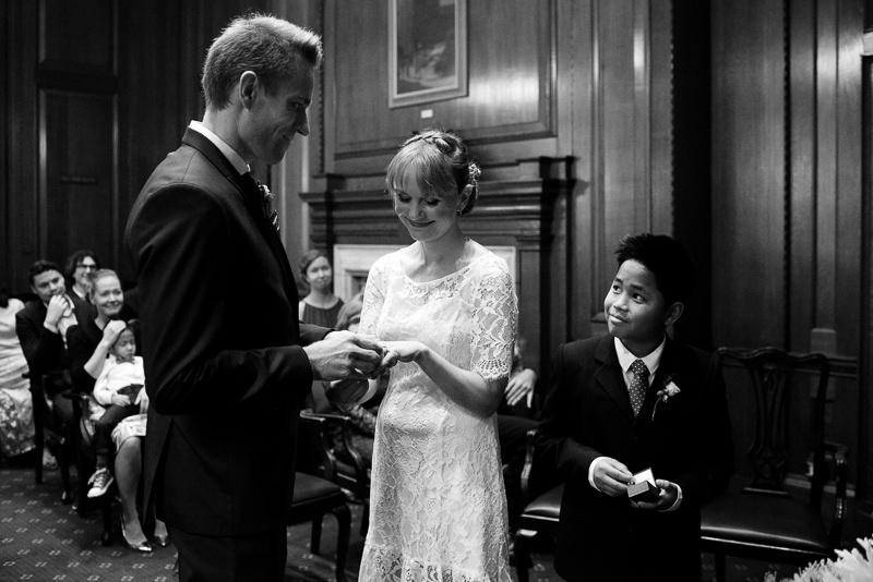 Camden Town Hall wedding ceremony