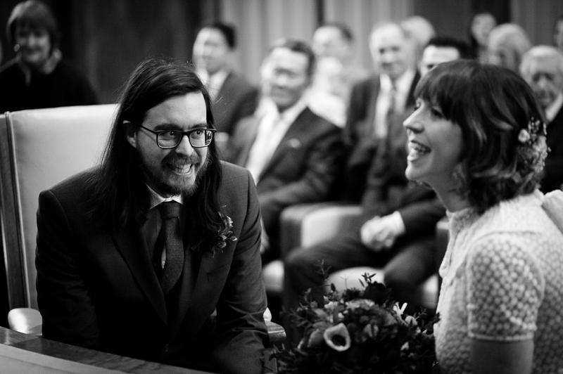 Bride and groom at Stoke Newington wedding
