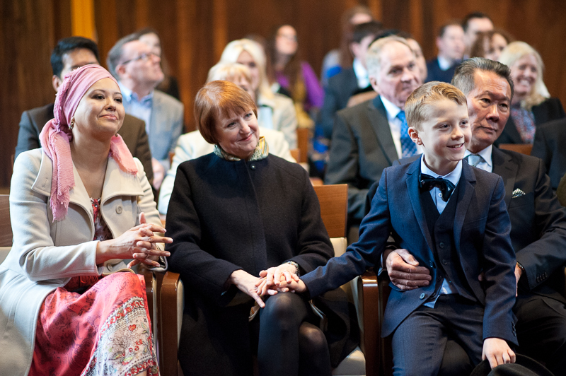 Guests watch ceremony for Stoke Newington wedding