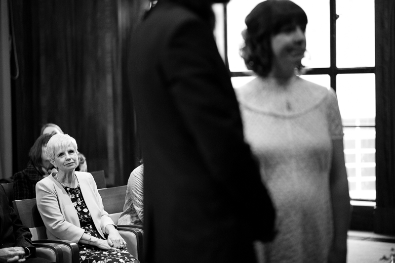 Mother watches daughter get married at Stoke Newington Town Hall