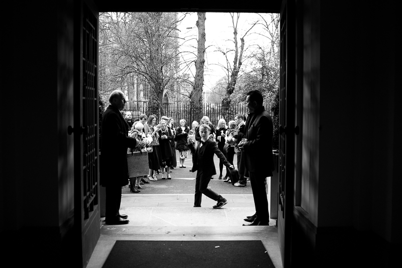 Guests outside Stoke Newington Town Hall