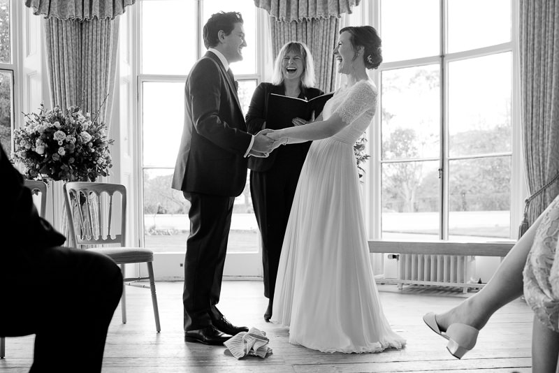 Humanist wedding at Cambridge Cottage