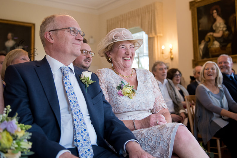 Guests at Cambridge Cottage wedding