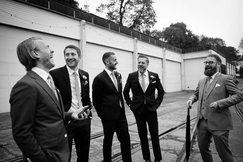Groomsmen at Fawley Hill wedding
