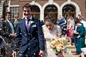 Gray's Inn wedding photography of confetti