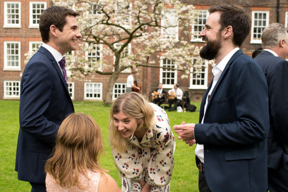 Guests mingle at Gray's Inn Wedding