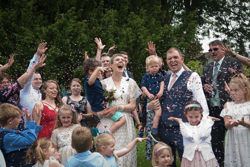 Confetti at Horniman bandstand wedding