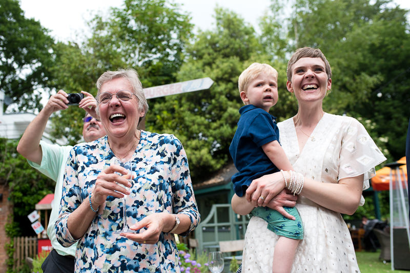 Guests react to kids entertainer at Dulwich pub wedding