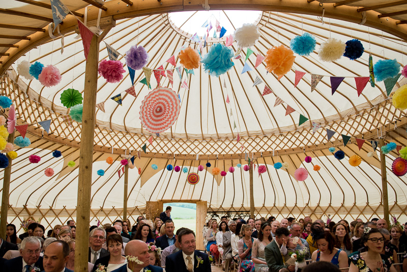 Yurt wedding at North Hill Farm