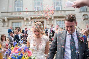 Hackney Town Hall confetti shot