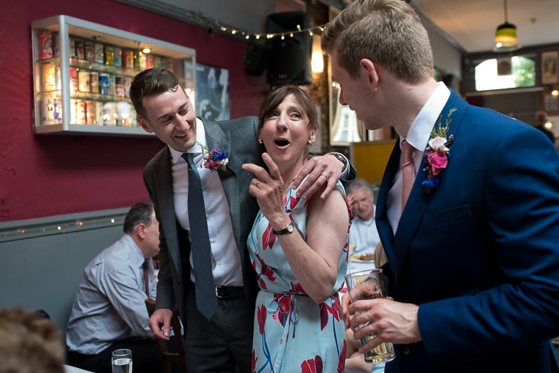 Groom with Mum at Hackney Pub wedding