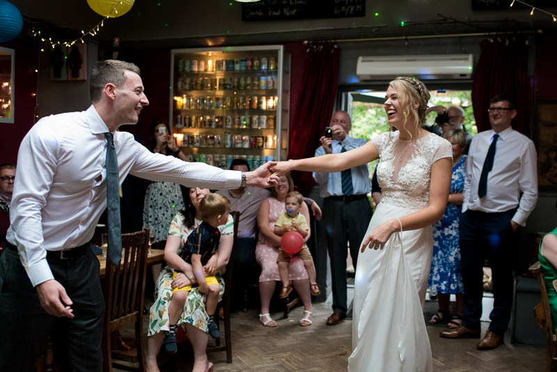 First dance at Hackney Pub wedding