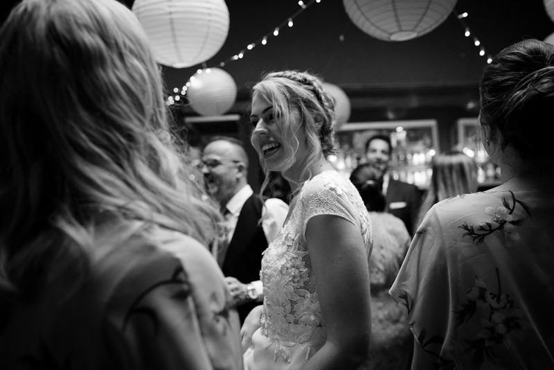 Bride on dancefloor at Hackney Pub wedding