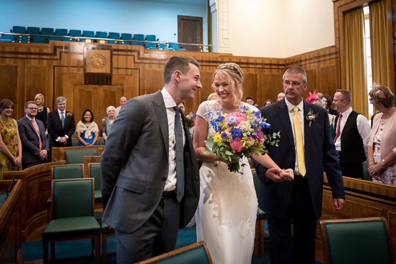 Wedding ceremony at Hackney Town Hall