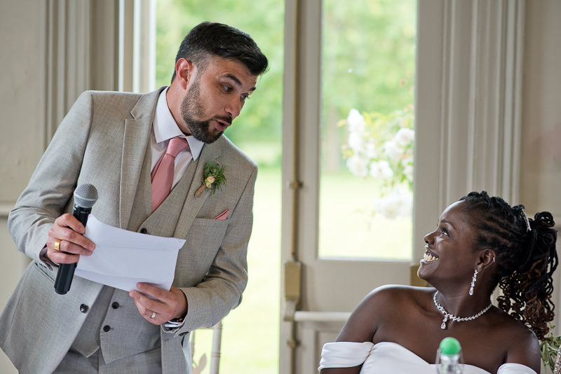 Groom's speech at Morden Hall