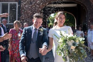 Confetti at Fulham Palace wedding