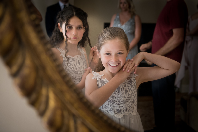 Flower girls before Fulham Palace wedding