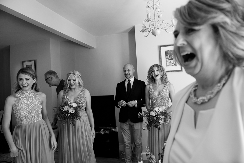 Family reacts to seeing bride