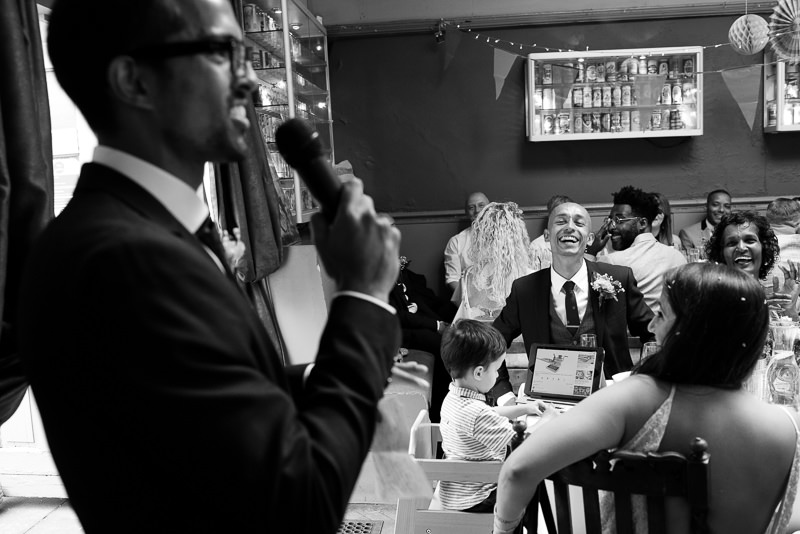 Speeches at Stoke Newington Pub wedding
