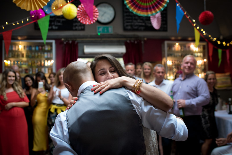 First dance at Stoke Newington Pub wedding