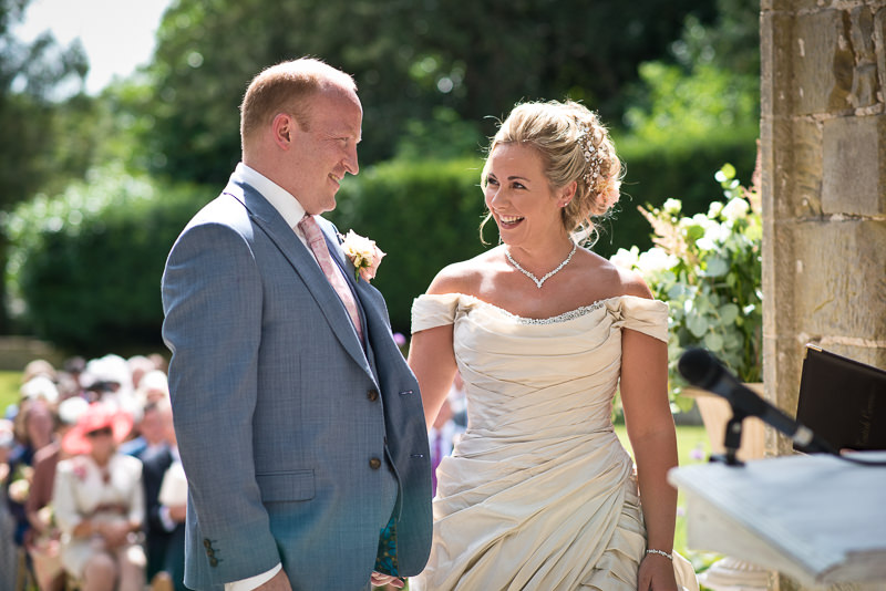 Wedding ceremony at Chiddingstone Castle