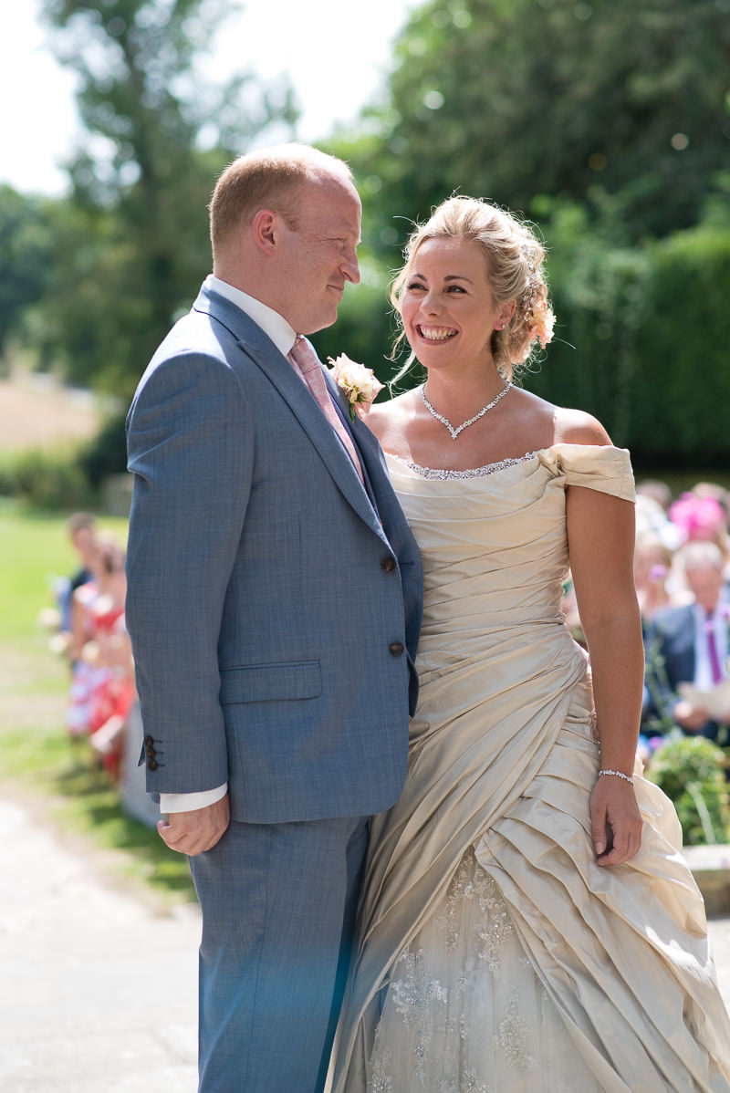 Outdoor wedding at Chiddingstone Castle