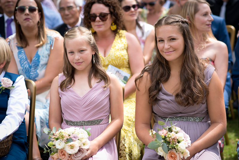 Flower girls at Chiddingstone castle wedding