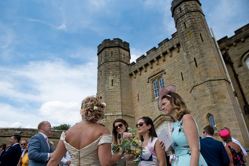 Drinks reception at Chiddingstone Castle wedding