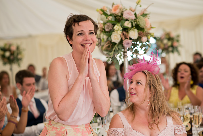 Guests react to speeches at Chiddingstone Castle