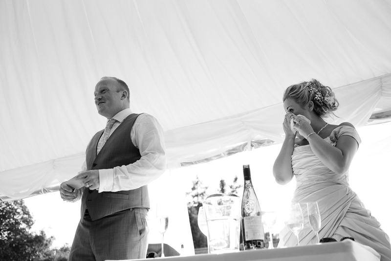 Speeches at Chiddingstone Castle wedding