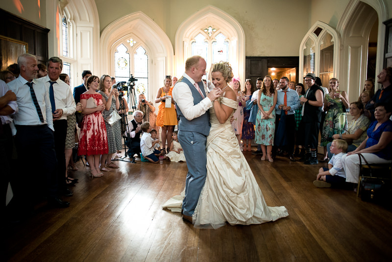 First dance at Chiddingstone Castle wedding
