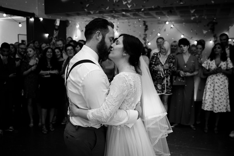 First dance at Holburn Studios wedding