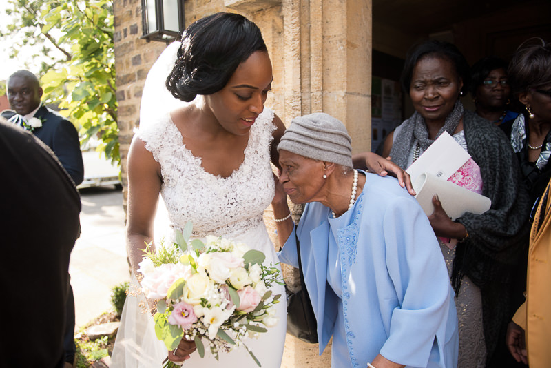 Bride greets grandma before Amadeus Centre wedding