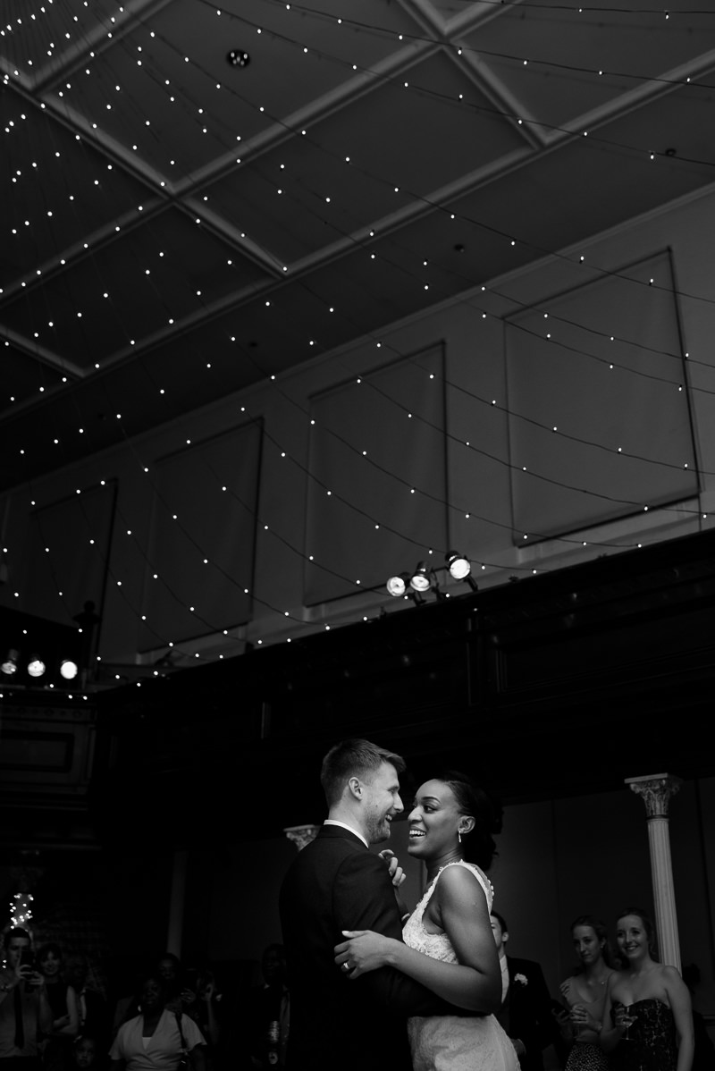 Fairy light canopy at Amadeus Centre wedding