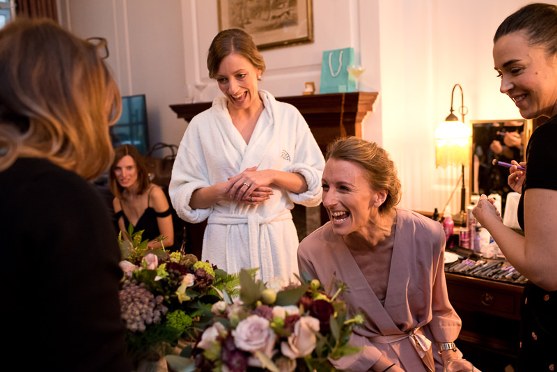 Bridal preparations at The Ned Hotel London