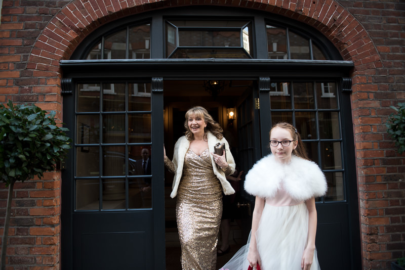 Bride and daughter leave Batty Langley's