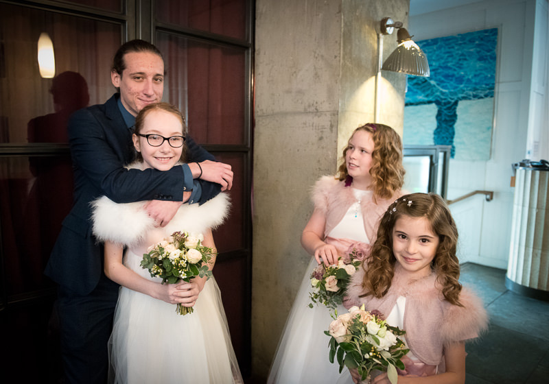 Flower girls at Hixter wedding